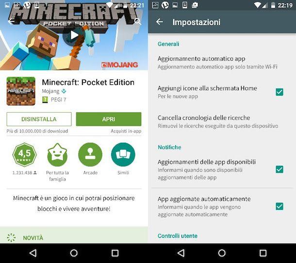 Come aggiornare Minecraft
