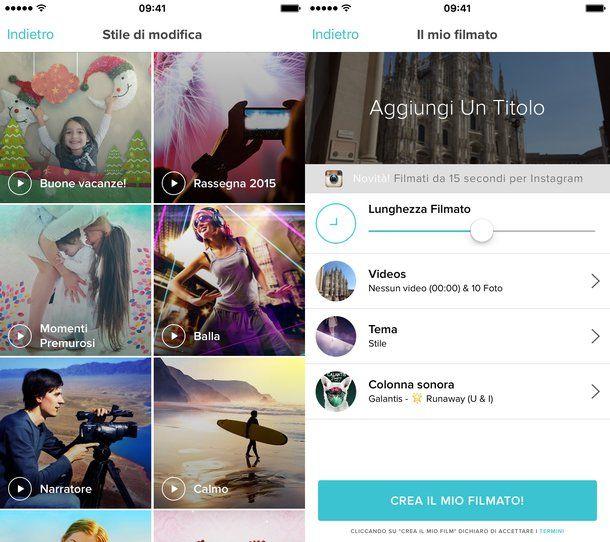 App per creare video