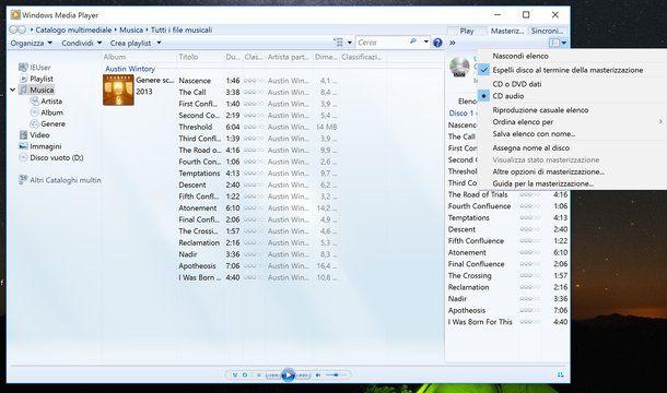 Come creare CD audio