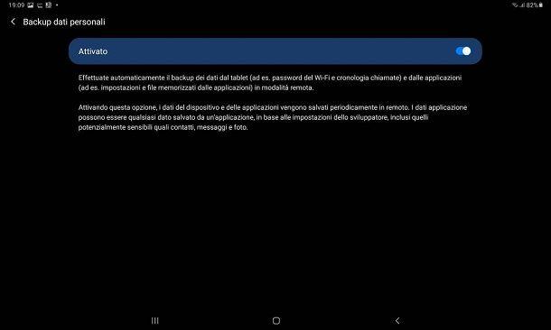 Come fare backup Samsung online