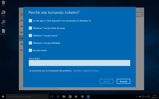 Come disinstallare Windows 10