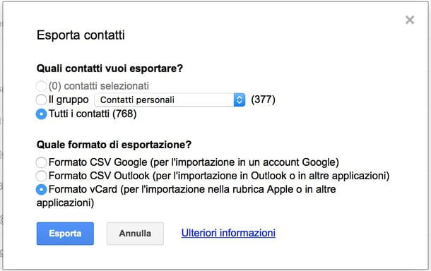 Come sincronizzare preferiti Chrome