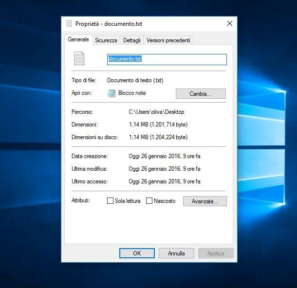 Screenshot che mostra come modificare estensione file su OS X