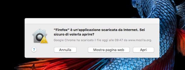 Screenshot di Firefox su OS X