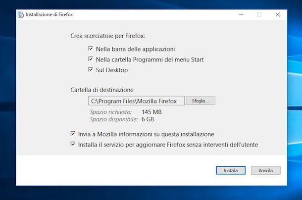 Screenshot di Firefox su Windows