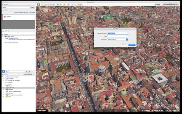 Screenshot di Google Earth