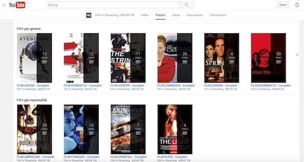 Dove posso vedere film in streaming gratis