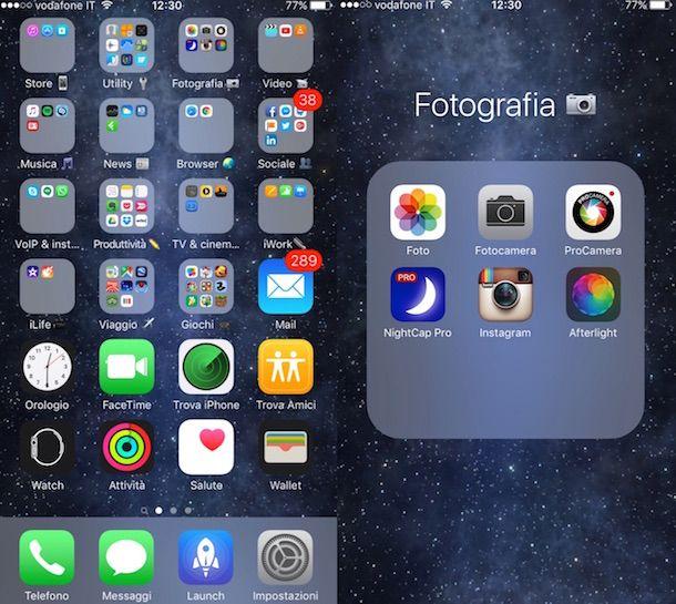 Screenshot di Instagram su iPhone