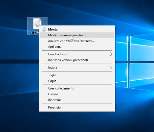 Screenshot che mostra come masterizzare file ISO su Windows