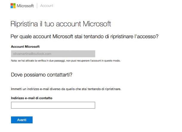Screenshot o di Outlook