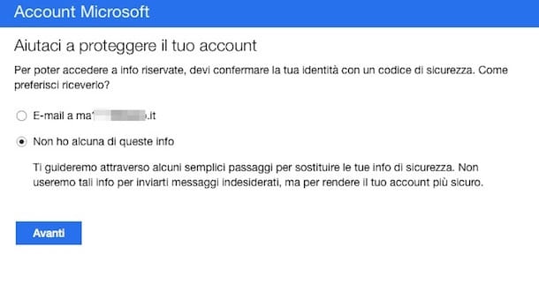 Screenshot di Outlook Web