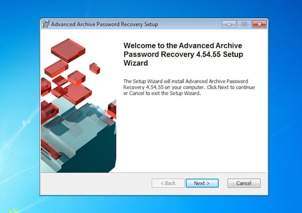Screenshot di Advanced Archive Password Recovery