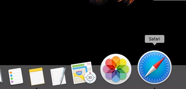 Screenshot di Safari su Mac