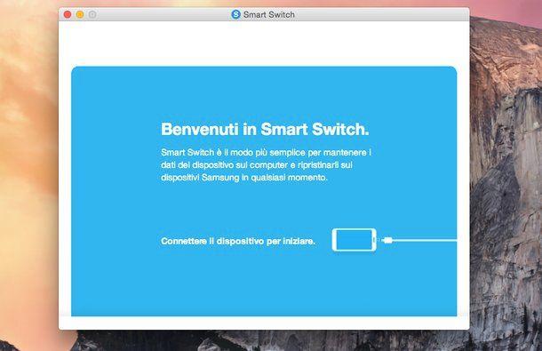 Come collegare cellulare Samsung a Mac
