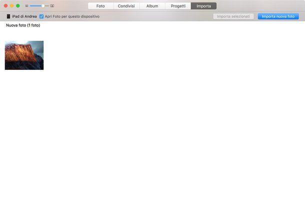 Come scaricare foto da iPad