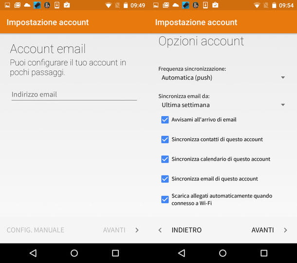 Come sincronizzare rubrica Android