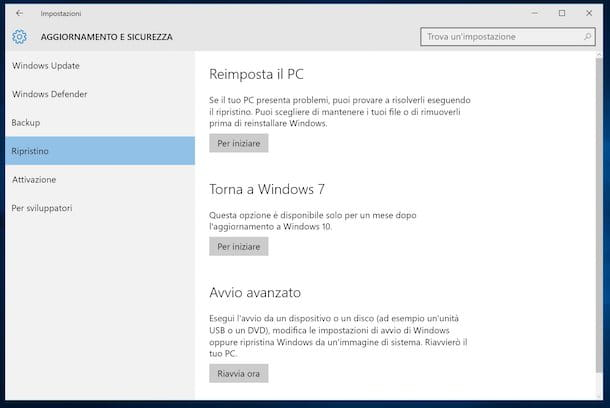 Come tornare a Windows 7