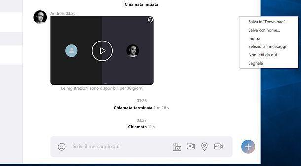 Registrazione Skype