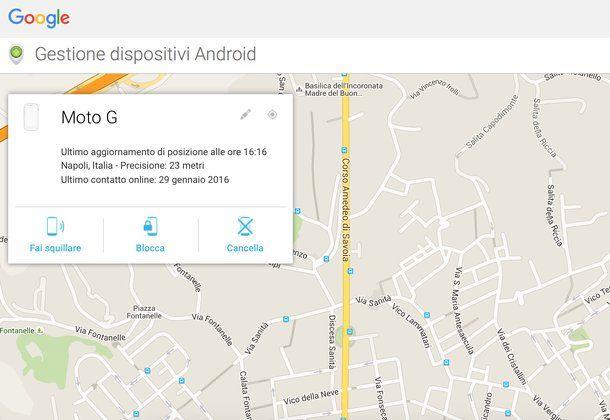 Come trovare telefono Android