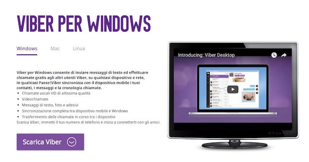 Screenshot di Viber su Windows