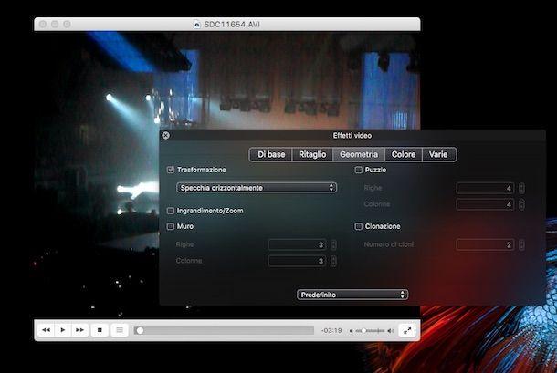 Screenshot di VLC