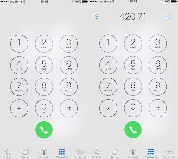 Screenshot che mostra come disattivar Rete Sicura di Vodafone