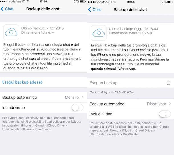 Screenshot che mostra come recuperare chat WhatsApp su iPhone