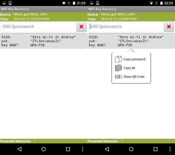 Come recuperare password WiFi Android