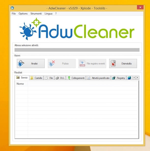 Screenshot di AdwCleaner