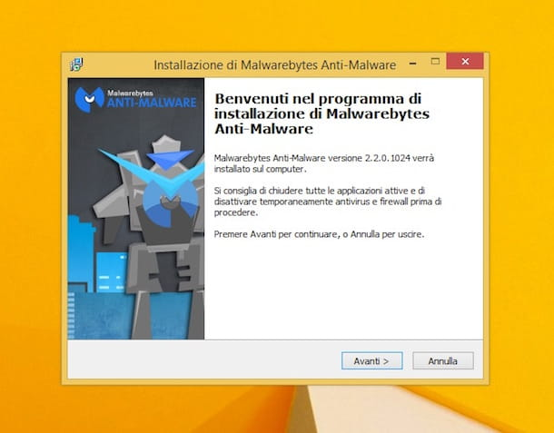 Screenshot di Malwarebytes Anti-Malware