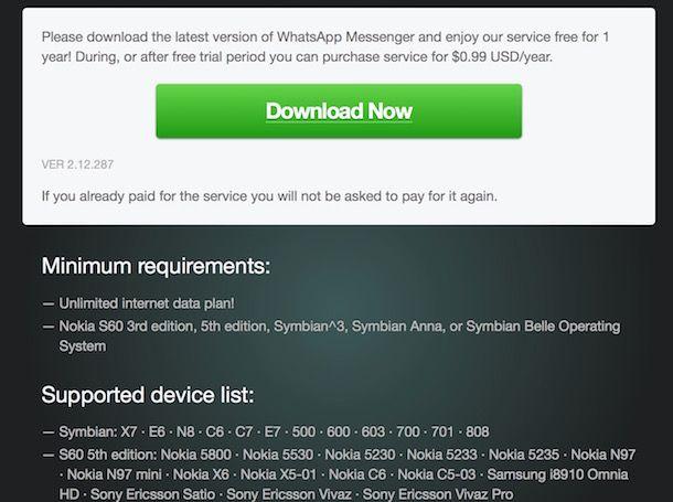 Come scaricare WhatsApp su Nokia