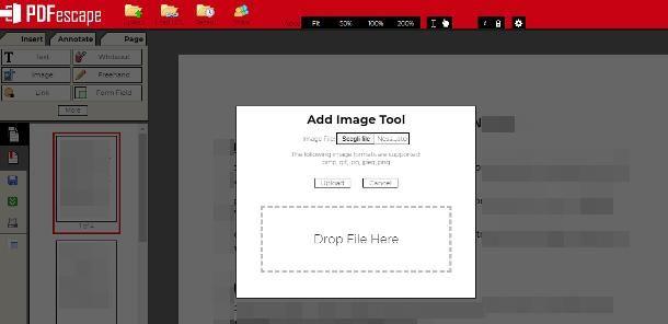 Come inserire immagine in PDF online