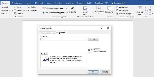 Come inserire immagine PDF in Word
