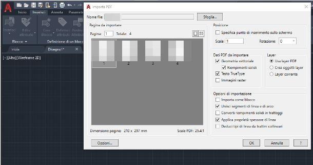 Come inserire immagine PDF in AutoCAD
