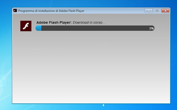 Screenshot di Adobe Flash Player