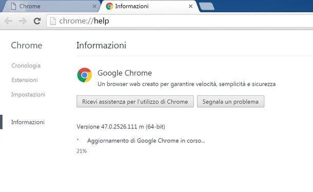 Come aggiornare browser
