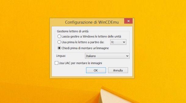 Screenshot che mostra come aprire ISO
