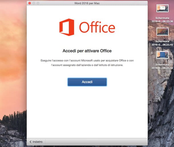 Come attivare Office 2016