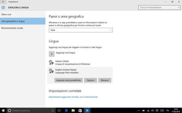 Come cambiare lingua al PC