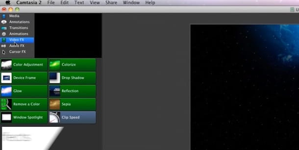 Screenshot di Camtasia