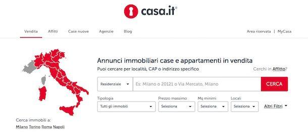 Screenshot di Casa.it