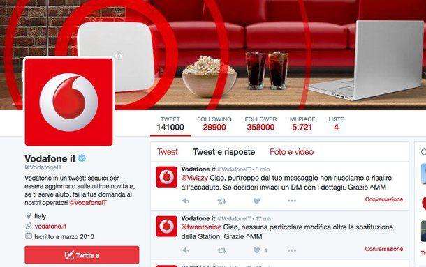 Come chattare con operatore Vodafone