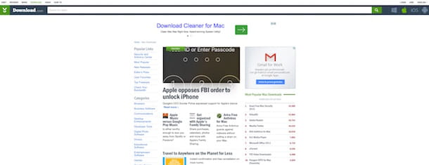 Screenshot di CNET Download