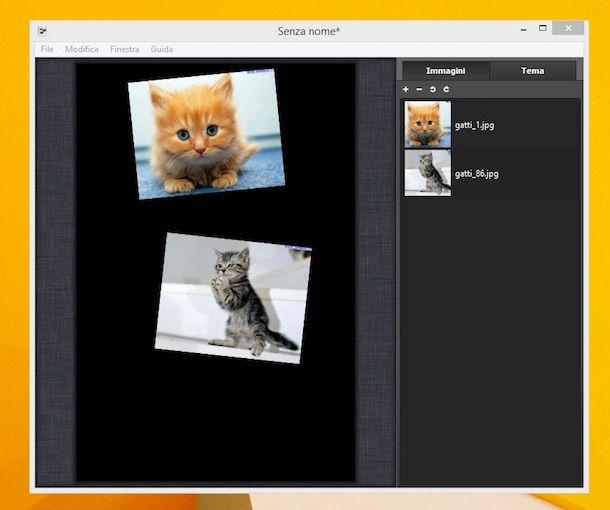 Screenshot di Collagerator