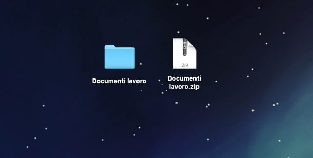 Screenshot di Utility Compressione su Mac