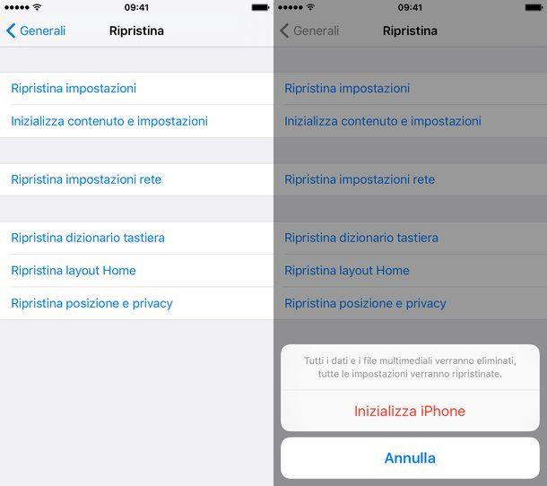 Come ripristinare iPhone senza aggiornare