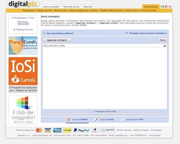 Screenshot di Digitalpix