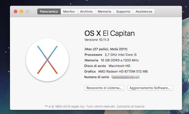 Screenshot che mostra come aggiornare driver gratis su Mac