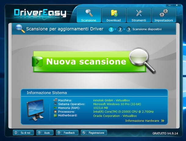 Screenshot che mostra come aggiornare driver gratis su Windows