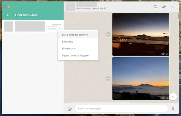 Chat archiviate WhatsApp PC